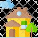 Green House Ecology House Eco House Icon
