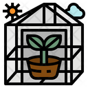 Greenhouses Farming Vertical Icon