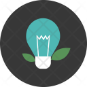 Lightbulb Leaf Innovation Icon