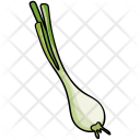 Green Onion Leaf Icon