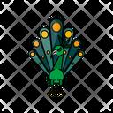 Green Peacock Bird Animal Icon