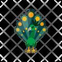 Green Peacock Unique Animal Icon