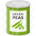 Green Peas Tin Icon