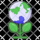 Green Planet Eco Planet Eco Environment Icon