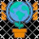 Green Planet Ecology Environment Icon