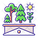 Green Roof Green Roof Icon