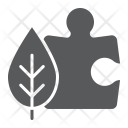 Puzzle Leaf Environmental Icon