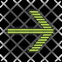 Green Striped Arrow Icon
