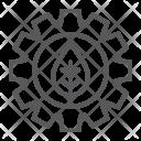 Leaf Gear Cog Icon