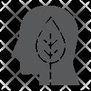 Leaf Head Think Icon