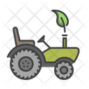 Green Tractor Vehicle Green Icon