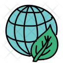 Leaf Globe World Icon