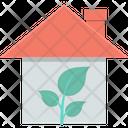 Greenhouse Leaf House Icon