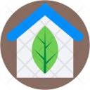 Greenhouse Leaf House Icon
