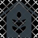 Greenhouse Flower Nursery Icon