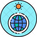Greenhouse Effect Atmosphere Earth Icon