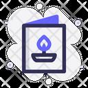 Greeting Card Diwali Candle Icon