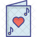 Greeting Card Heart Card Valentine Card Icon
