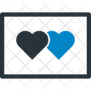 Greeting Card Heart Heart Ticket Icon