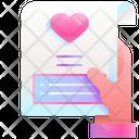 Greeting Card Love Card Valentine Card Icon