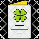 Greeting Card St Patricks Day Letter Celebration Icon
