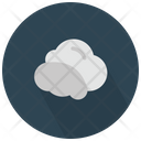 Grey And White Cloud Icon