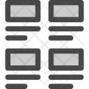 Grid Horizontal Images Icon