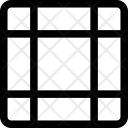 Grid Square Irregular Icon