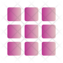 Grid Fine Text Icon
