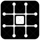 Grid Element Science Icon