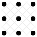 Grid Dot Structure Icon