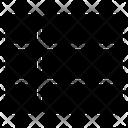 Grid List Checklist Icon