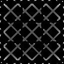 Grid Pixel Interface Icon