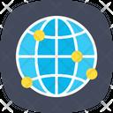 Grid Globe Icon