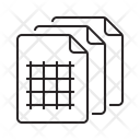 Grid Papers Icon