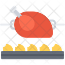 Grilled Chicken Fire Icon