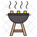 Grilled Barbecue Hot Icon