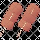 Grilled Pork Skewer Icon