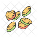 Grilled Vegetables Slices Icon