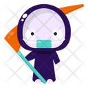 Grim Reaper Halloween Costume Icon