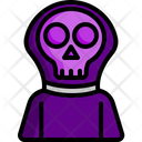 Grim Reaper Spooky Characters Icon