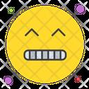 Grimacing Emoticon Face Icon