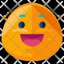 Grin Emoji Face Icon