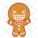 Smile Face Gingerbread Icon