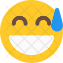 Grinning Cold Sweat Icon