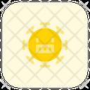 Grinning Coronavirus Emoji Coronavirus Icon
