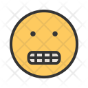 Grinning Emoji Face Icon