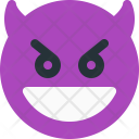 Grinning Devil Smiley Icon