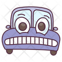 Grinning Car Transport Vehicle Icon