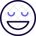 Grinning Closed Eyes Icon